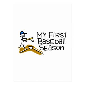 Baseball My First Baseball Season Postcard