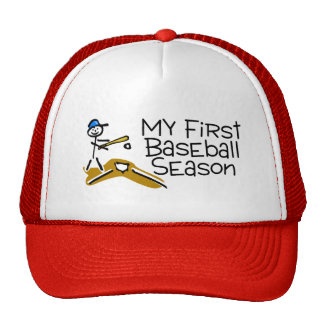 Baseball My First Baseball Season (Stick Figure) Hat