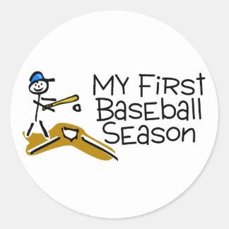 Baseball My First Baseball Season Sticker
