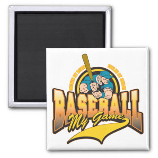 Baseball My Game Square Magnet