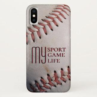 Baseball My Sport My Game My Life iPhone X Case