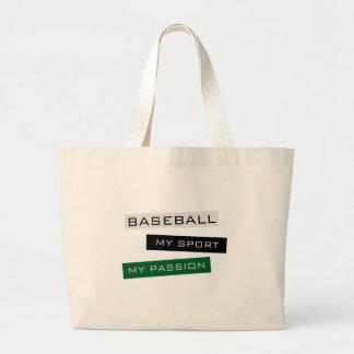 Baseball My Sport My Passion Jumbo Tote Bag