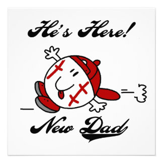 Baseball New Dad T-shirts and Gifts Personalized Announcement