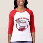 Baseball No Place Like Home Red Raglan Shirt