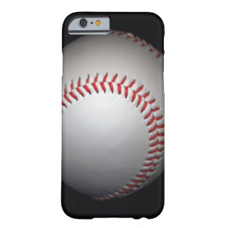 Baseball on black background, close-up barely there iPhone 6 case