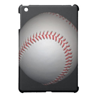 Baseball on black background, close-up iPad mini case