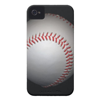 Baseball on black background, close-up iPhone 4 Case-Mate case
