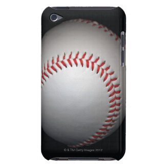 Baseball on black background, close-up iPod touch cover
