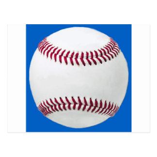 Baseball on blue post cards