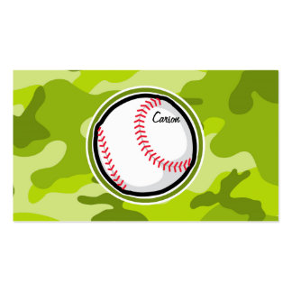 Baseball on Green Camo, Camouflage Pack Of Standard Business Cards