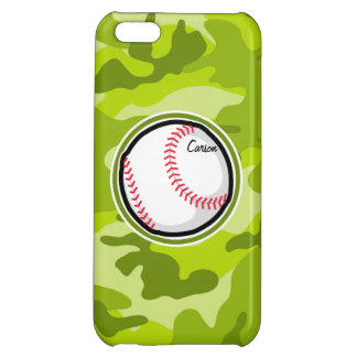 Baseball on Green Camo Camouflage Cover For iPhone 5C