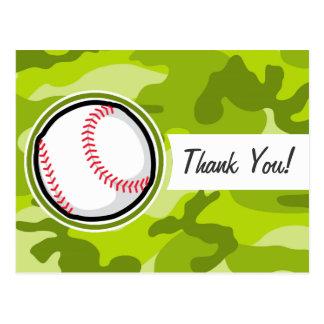 Baseball on Green Camo, Camouflage Postcard