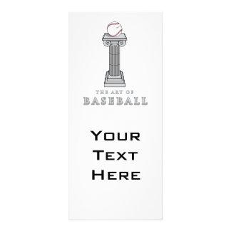 baseball on pedestal art rack card design
