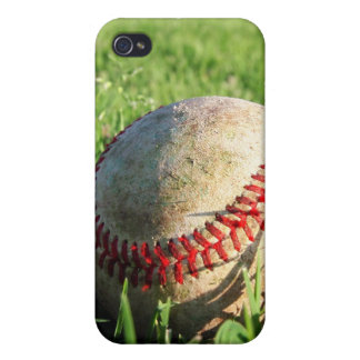 Baseball On The Grass iPhone 4 Case