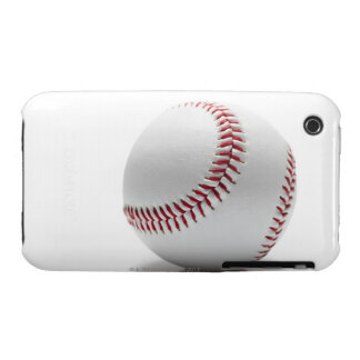 Baseball on white background iPhone 3 cases