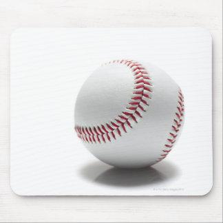 Baseball on white background mouse mat
