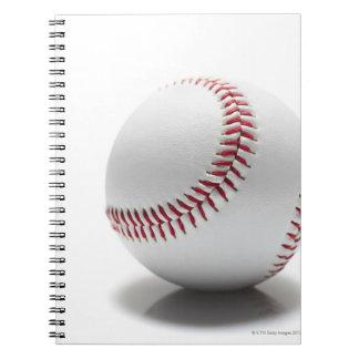 Baseball on white background notebook