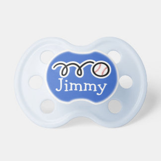 Baseball pacifer with name / Soother dummy binkie