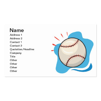 Baseball Pack Of Standard Business Cards
