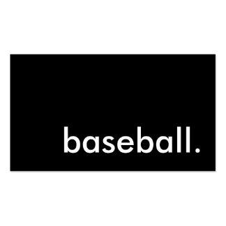 baseball. pack of standard business cards