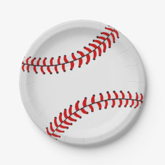 Baseball Paper Plate