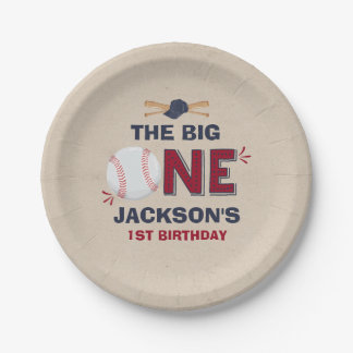 """Baseball Paper Plate 7"""" Paper Plate Baseball Party 7 Inch Paper Plate"""