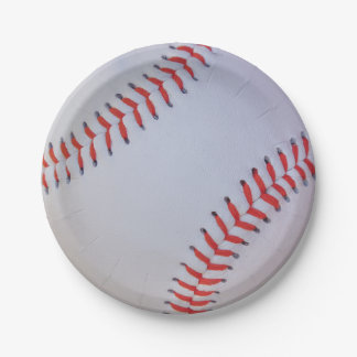 Baseball Paper plates 7 Inch Paper Plate