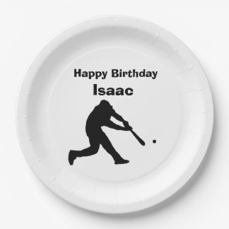 """""""Baseball"""" Paper Plates 9 Inch Paper Plate"""