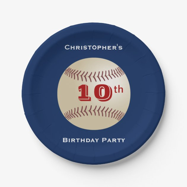 Baseball Paper Plates 9th/10th Birthday Party Paper Plate | Zazzle.co.uk  sc 1 st  Zazzle & Baseball Paper Plates 9th/10th Birthday Party Paper Plate | Zazzle ...