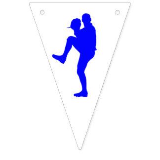 Baseball Party Bunting Flag