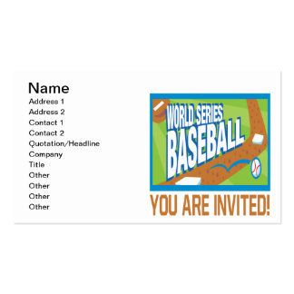 Baseball Party Business Cards