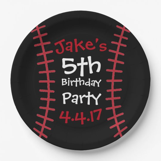 Baseball Party Plates- Birthday Party Decor Paper Plate