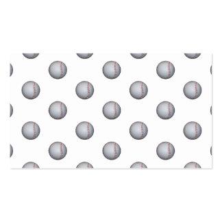 Baseball Pattern Business Card Template