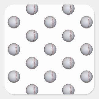 Baseball Pattern Square Sticker