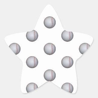Baseball Pattern Star Sticker