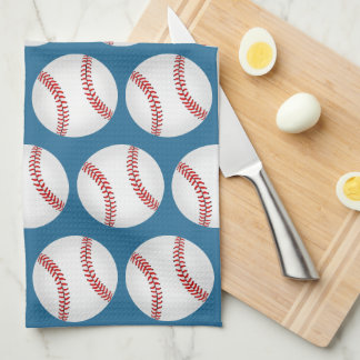 Baseball Pattern Tea Towel