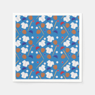 Baseball Patterned Party Disposable Napkins
