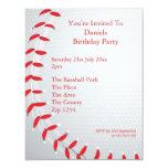 Baseball Personalised Invitations