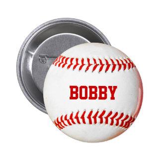 Baseball Personalized 6 Cm Round Badge