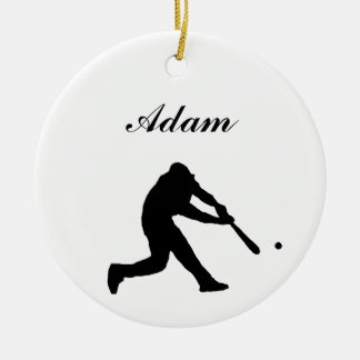 Baseball Personalized Christmas Ornament
