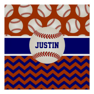 Baseball Personalized Poster