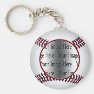 baseball photo key ring