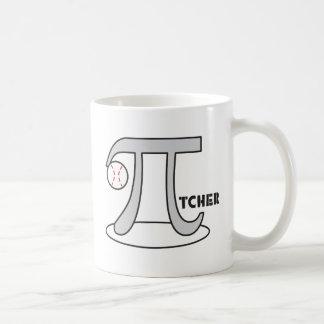Baseball Pi-tcher - Funny Pi Basic White Mug