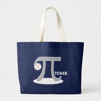 Baseball Pi-tcher - Funny Pi Canvas Bags
