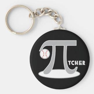 Baseball Pi-tcher - Funny Pi Day Gifts Keychains