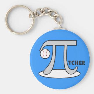 Baseball Pi-tcher - Funny Pi Keychains