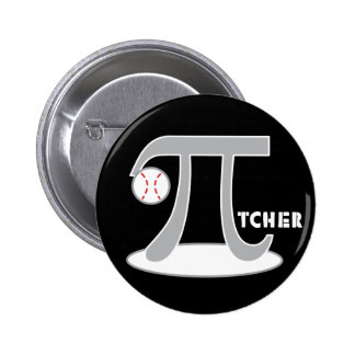 Baseball Pi-tcher - Funny Pi Pinback Buttons