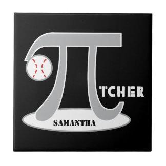 Baseball Pi-tcher - Funny Pi Tile