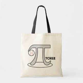 Baseball Pi-tcher - Funny Pi Tote Bags