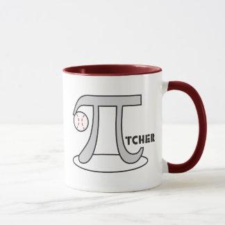 Baseball Pi-tcher Math Theme Mug Funny Pi Day Gift